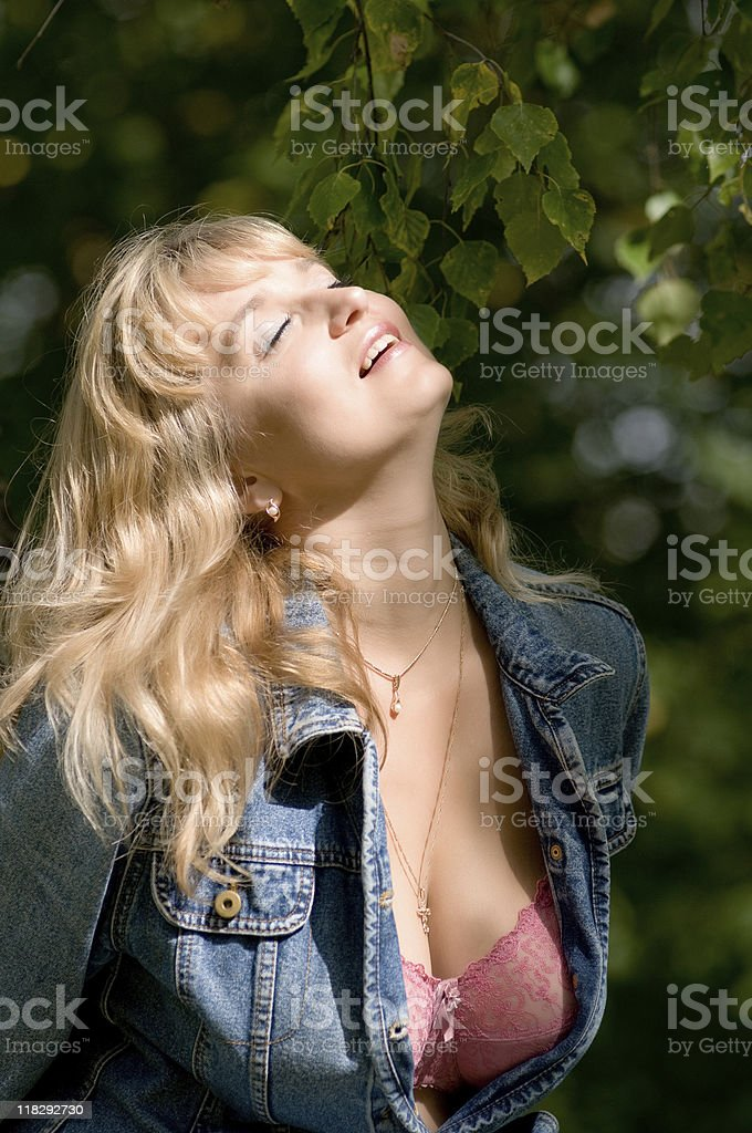 woman in the sunshine royalty-free stock photo