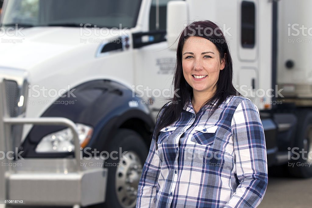 Woman in the Trucking Industry stock photo