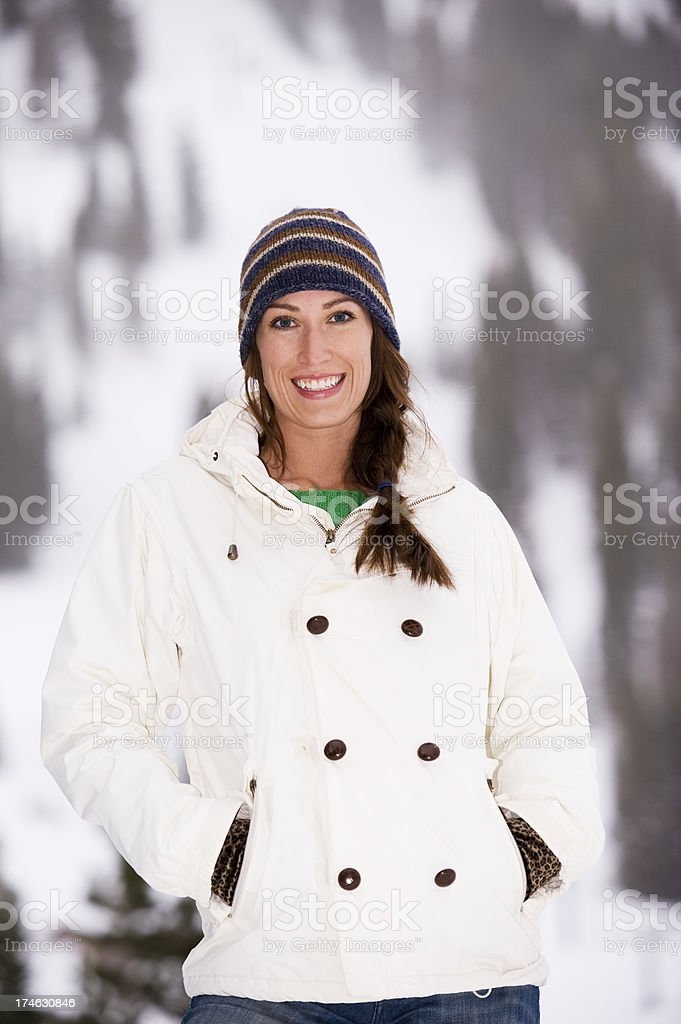 Woman in the Winter royalty-free stock photo