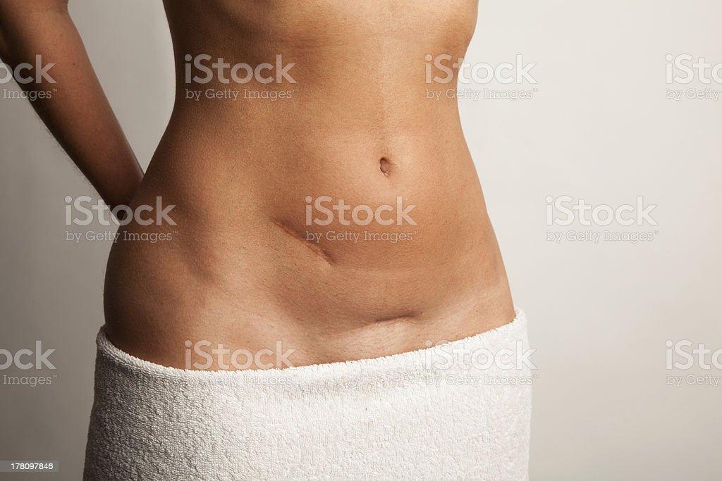 Woman in Towel stock photo
