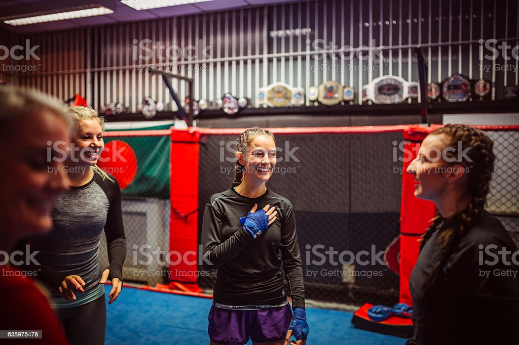 Woman in Training stock photo