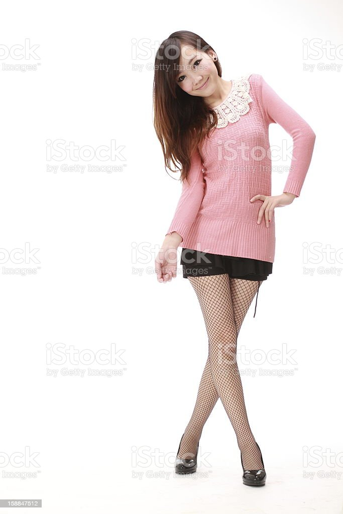 woman in various poses. stock photo