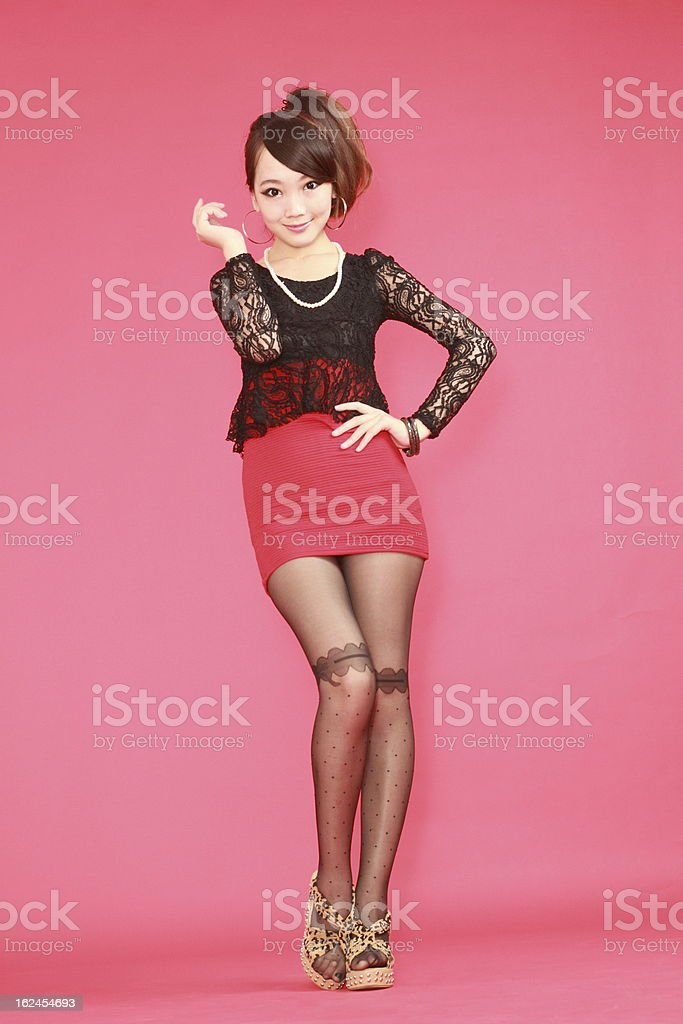 woman in various poses. royalty-free stock photo