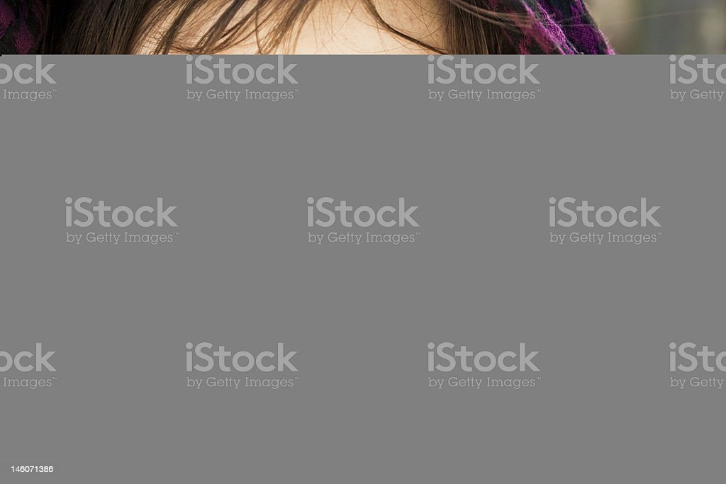 Woman in veil stock photo