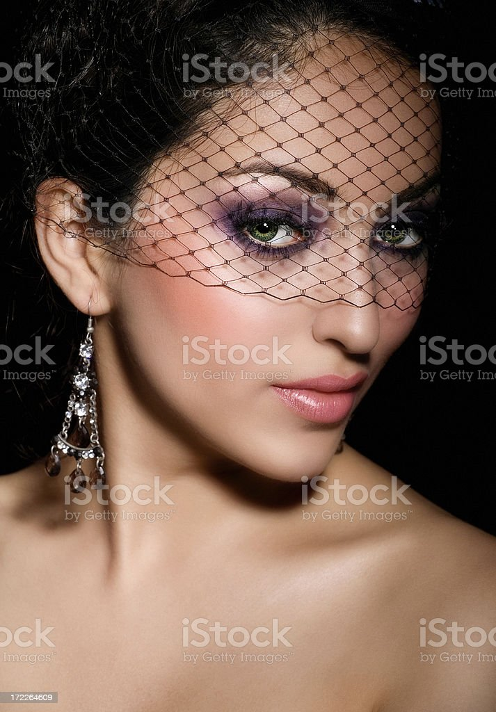 Woman In Veil royalty-free stock photo