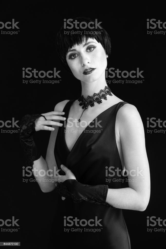 Woman in Vintage 1920's Style stock photo