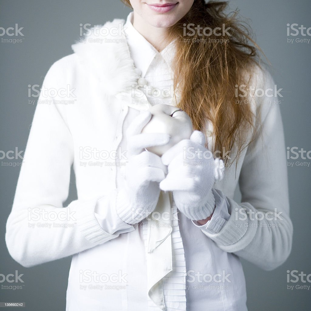 woman in white royalty-free stock photo