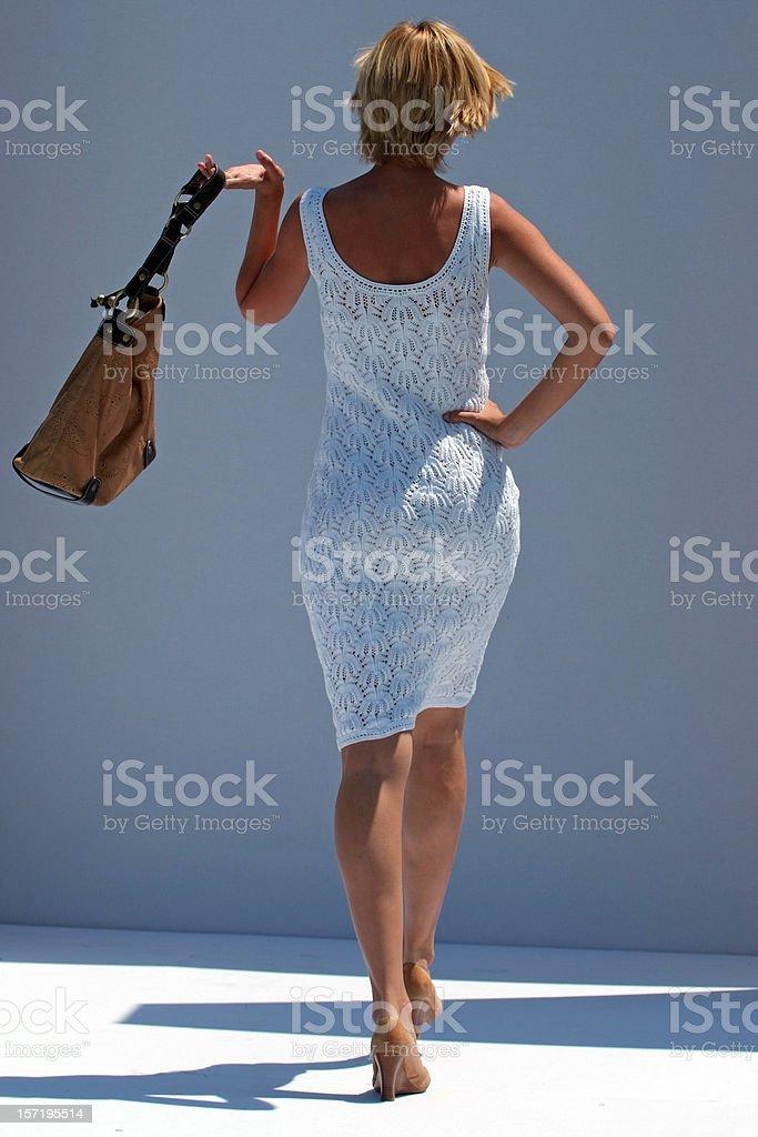Woman in white stock photo