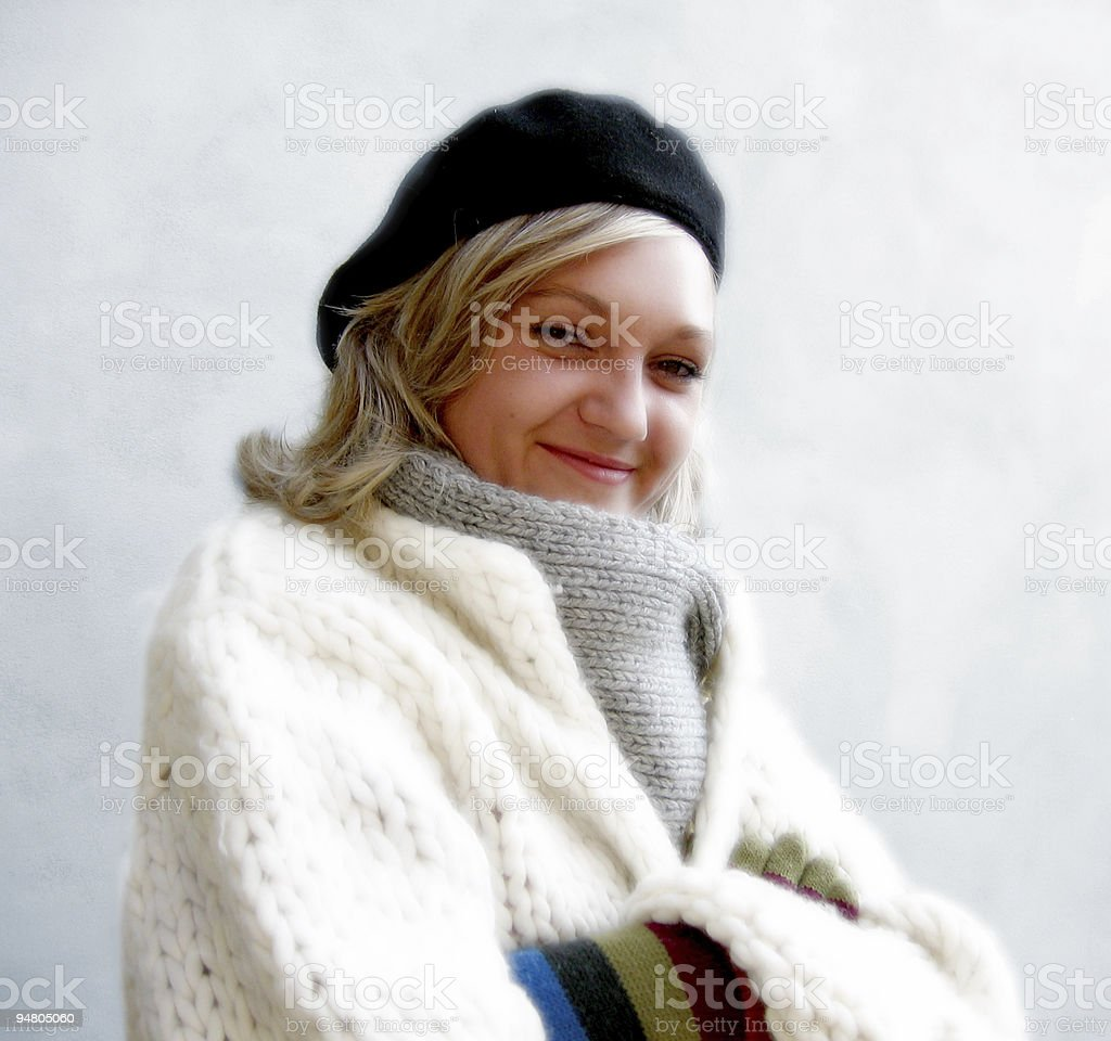 woman in winter royalty-free stock photo