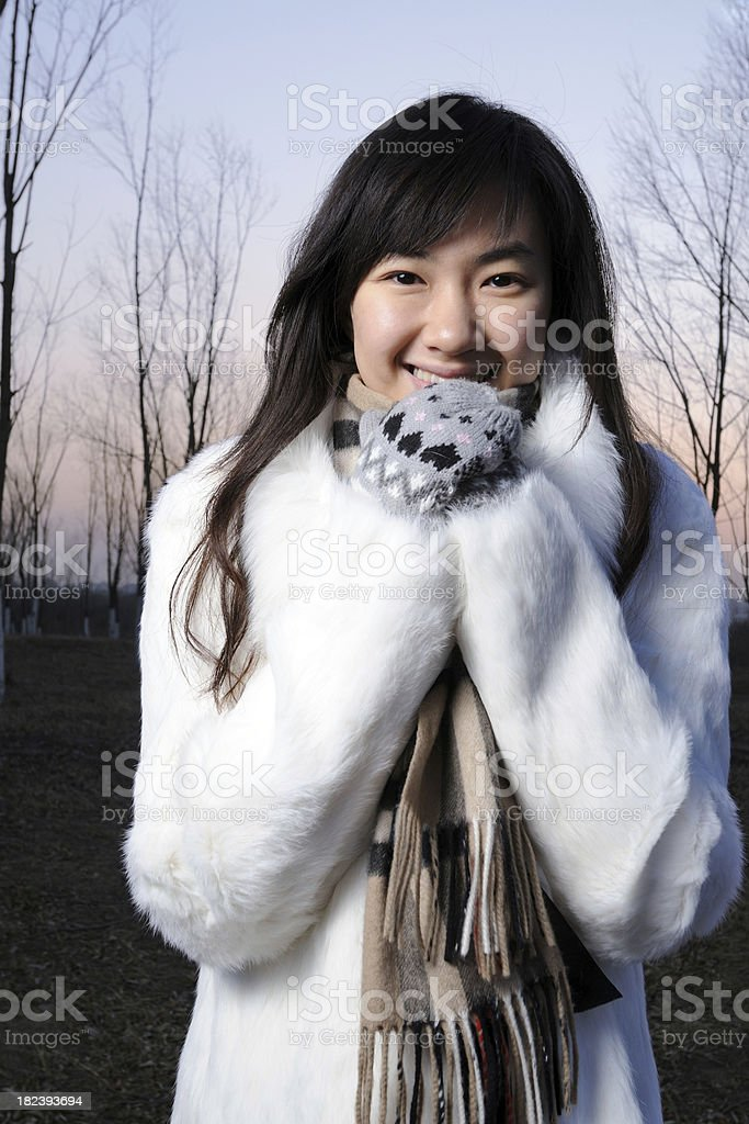 Woman in Winter - XLarge royalty-free stock photo