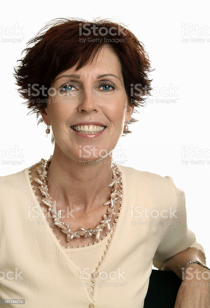 Woman is confident and empowered, dressed proudly royalty-free stock photo