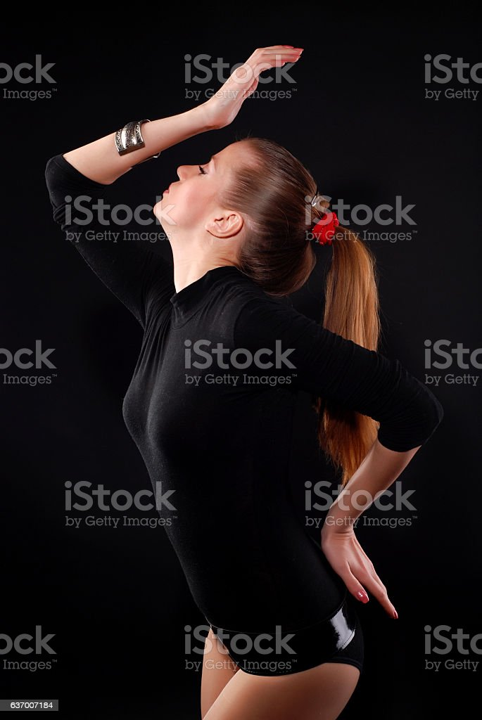 woman is dancing stock photo
