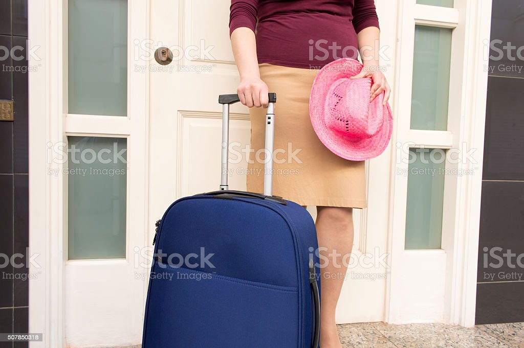 woman is ready for vacation stock photo