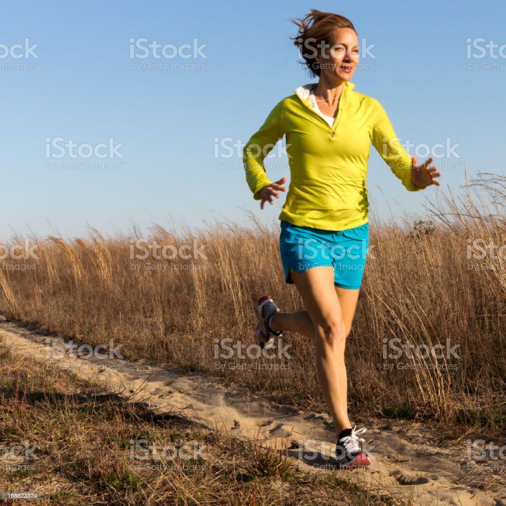 Woman Jogging royalty-free stock photo
