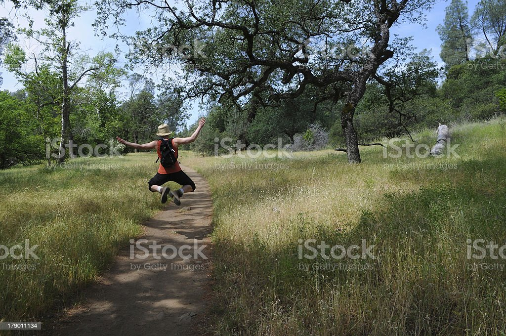Woman Jumping royalty-free stock photo