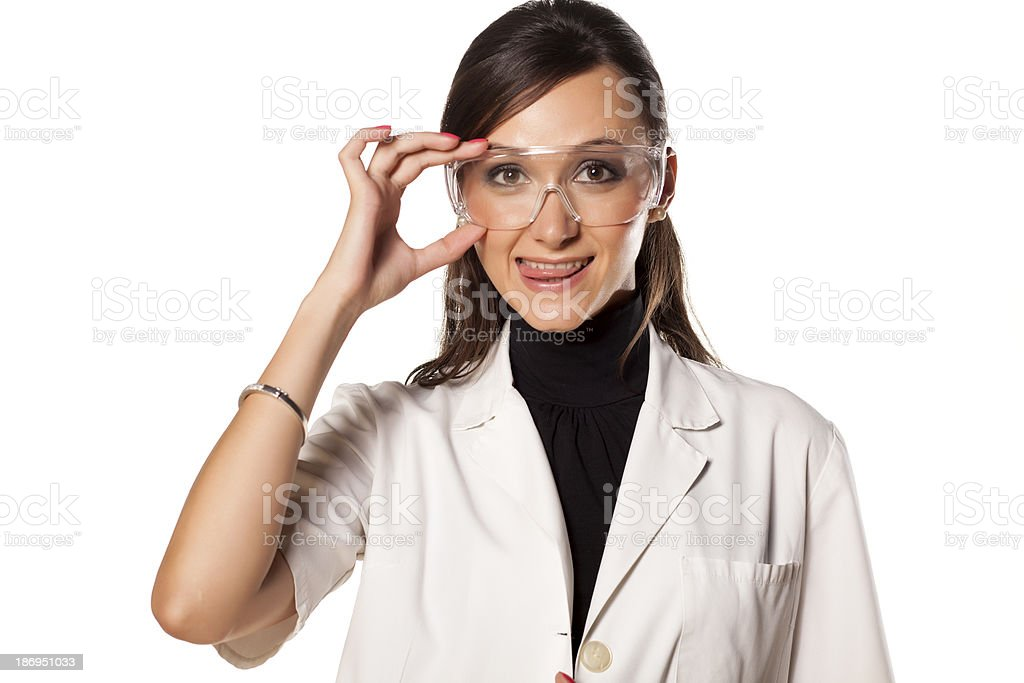 woman lab technician royalty-free stock photo