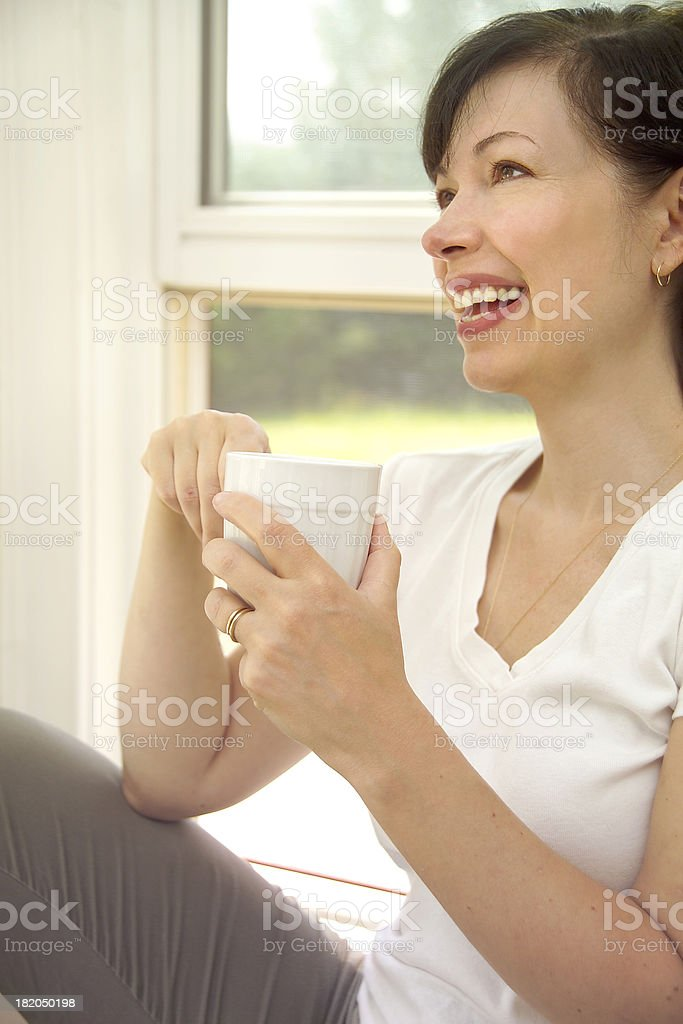 woman laughing royalty-free stock photo