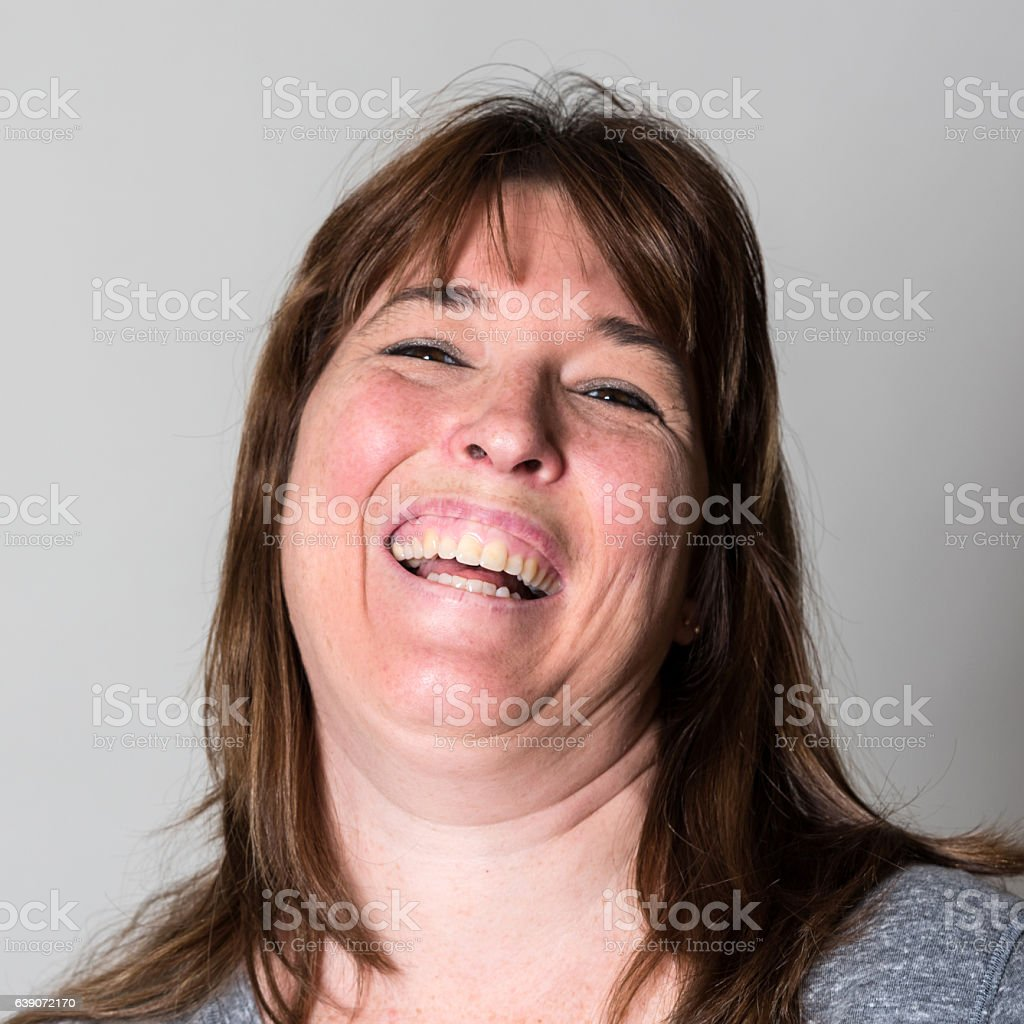 Woman Laughing stock photo