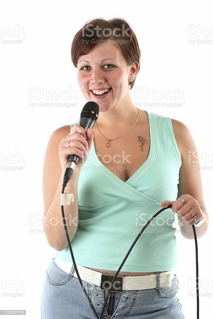 Woman leader of the show royalty-free stock photo