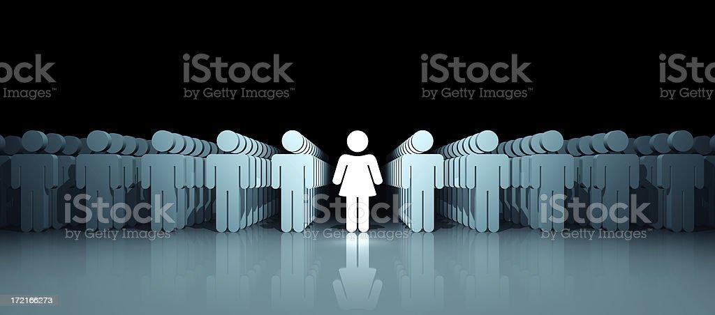 Woman Leader (XXL) royalty-free stock photo