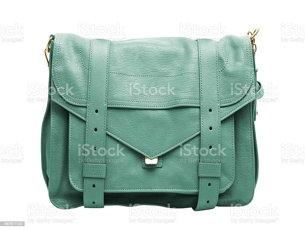 Woman leather bag isolated stock photo