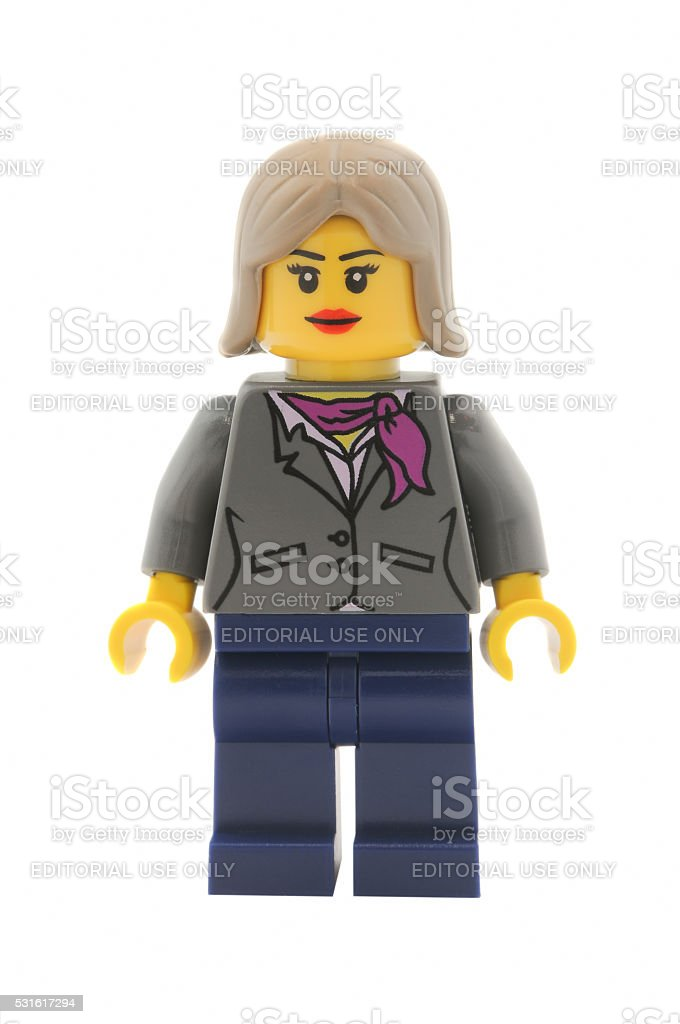 Woman Lego City Minifigure stock photo