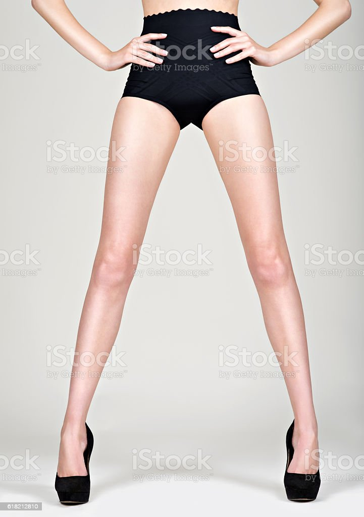 Woman legs high heel Fashion Beautiful stock photo