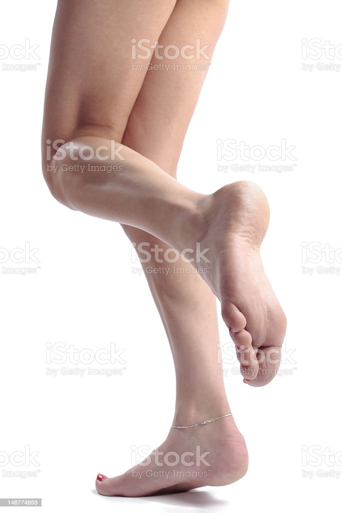 Woman legs isolated over white royalty-free stock photo