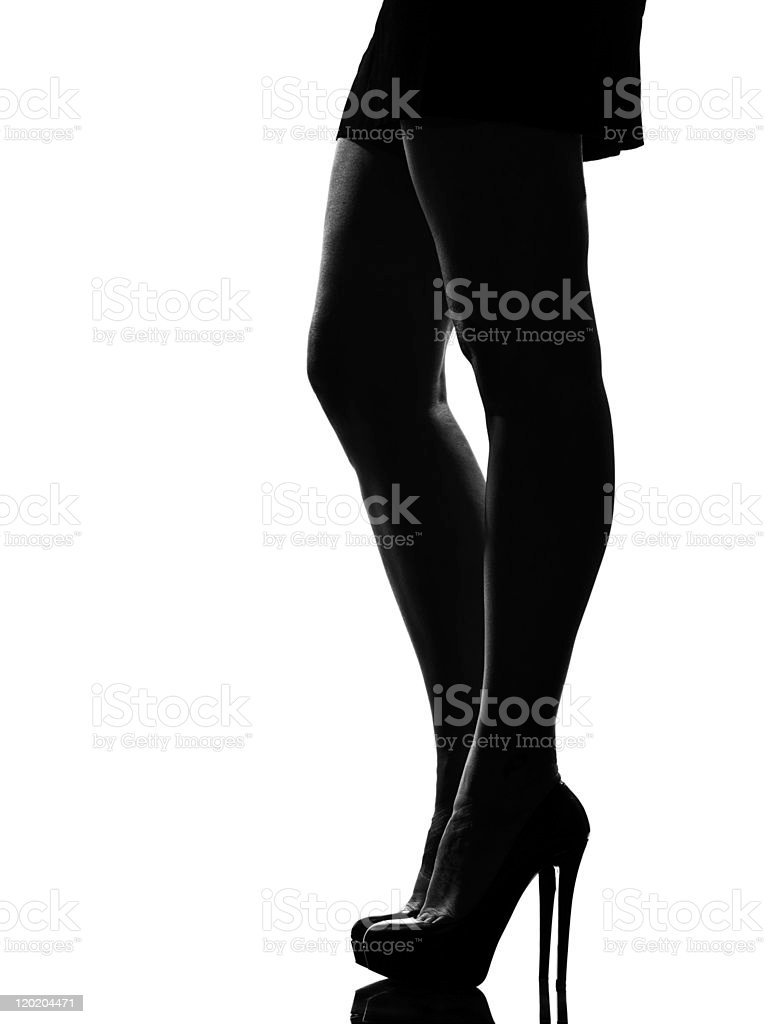 woman legs shoes high heels silhouette stock photo