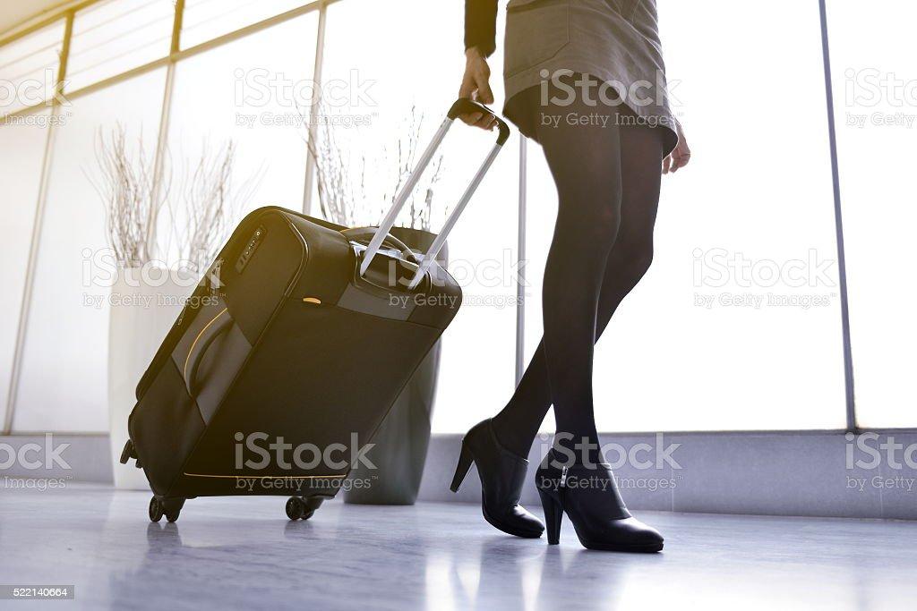 woman legs walking stock photo