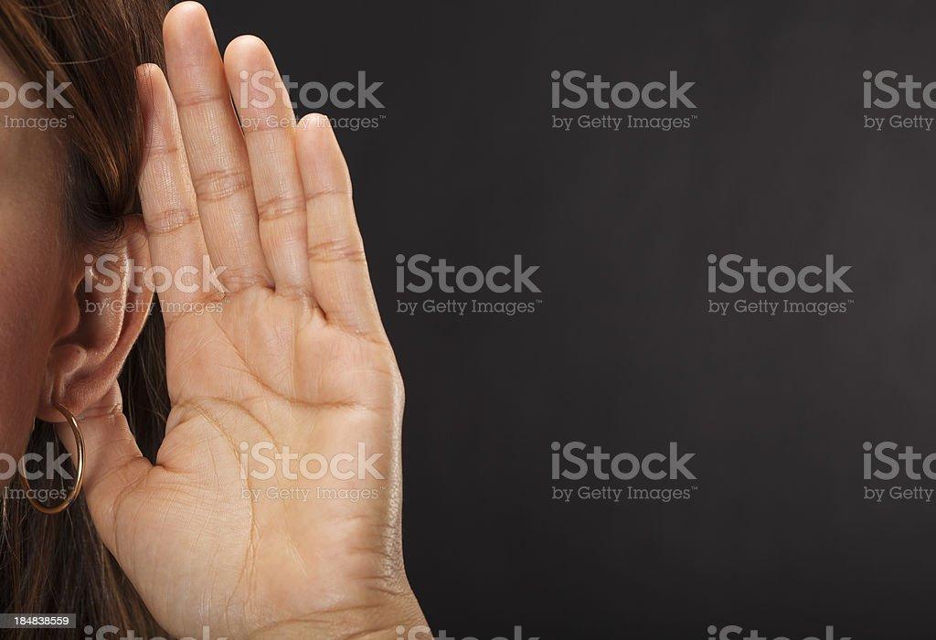 Woman Listening stock photo