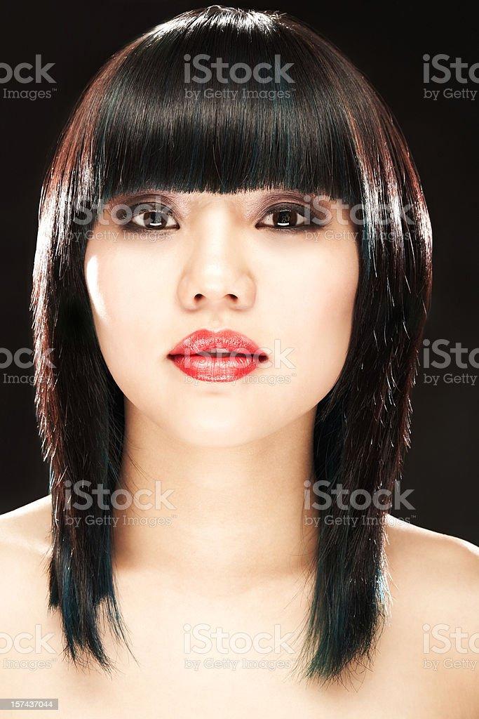 Woman Looking at Camera royalty-free stock photo
