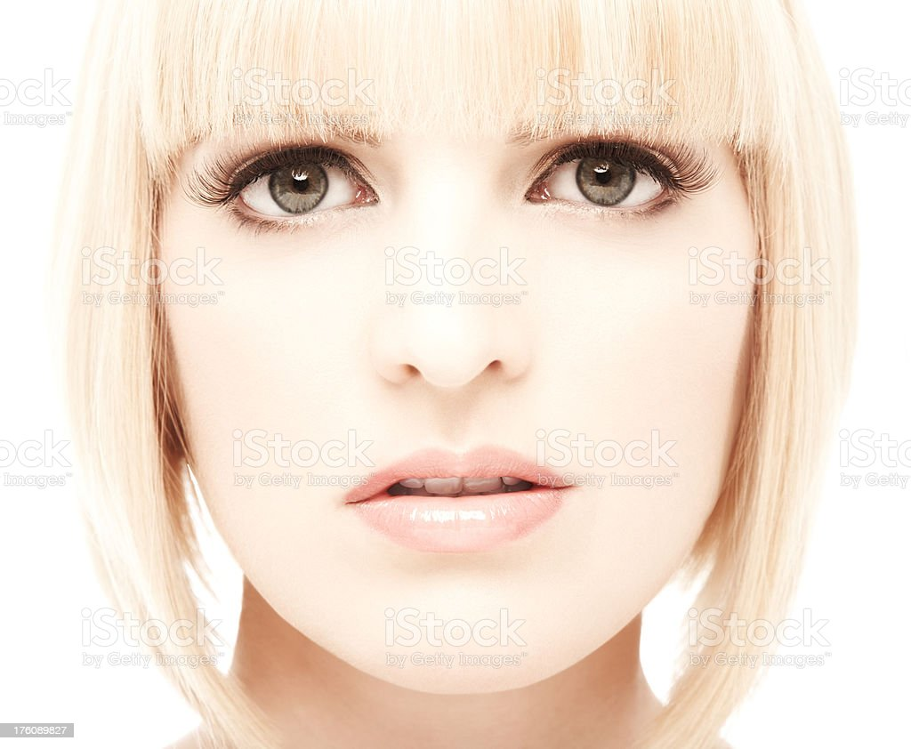 Woman Looking at Camera royalty-free stock photo