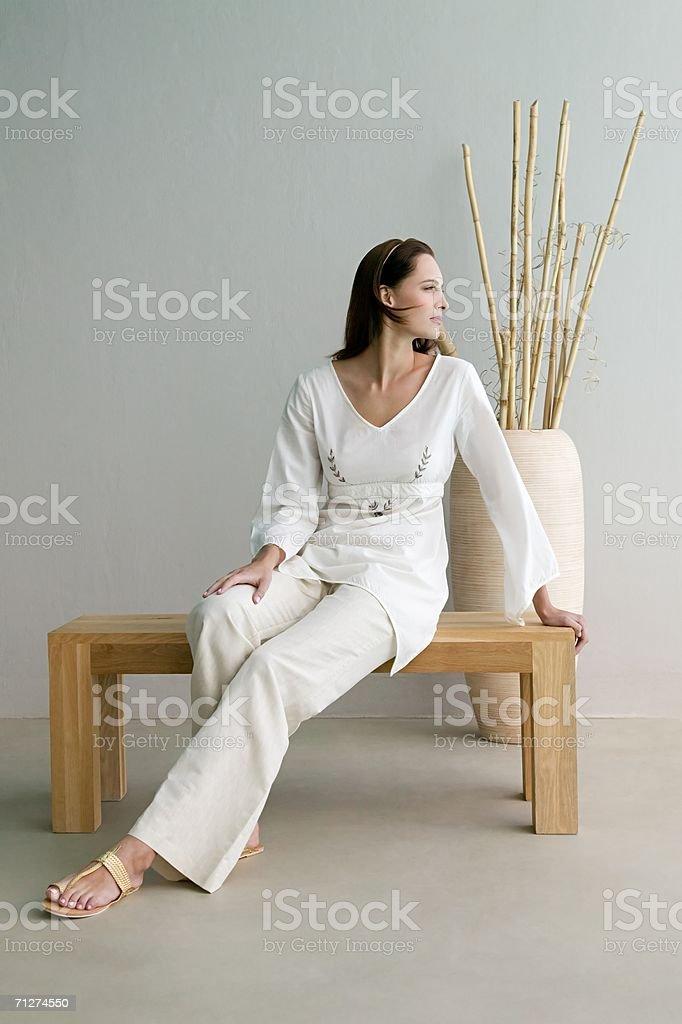 Woman looking away stock photo
