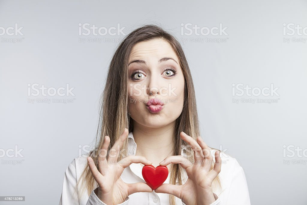 woman looking for love stock photo