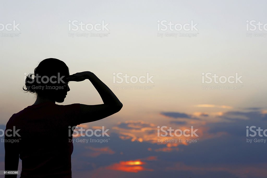 Woman looking for royalty-free stock photo