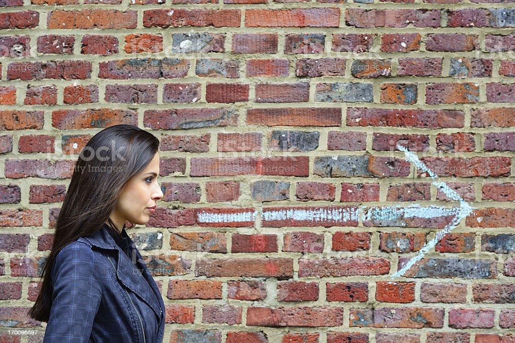 Woman looking forward royalty-free stock photo