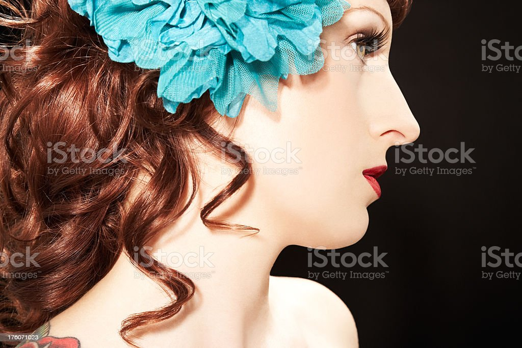 Woman Looking to Side royalty-free stock photo