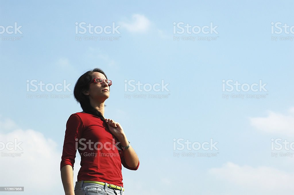 woman looking to the future royalty-free stock photo