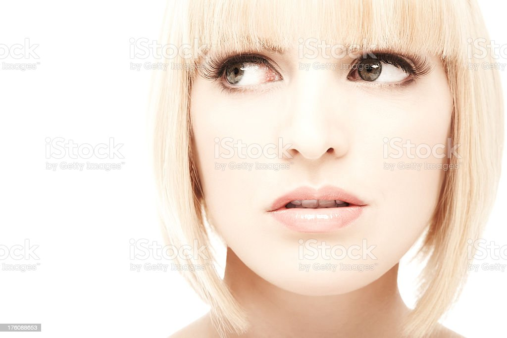 Woman Looking to the Side royalty-free stock photo