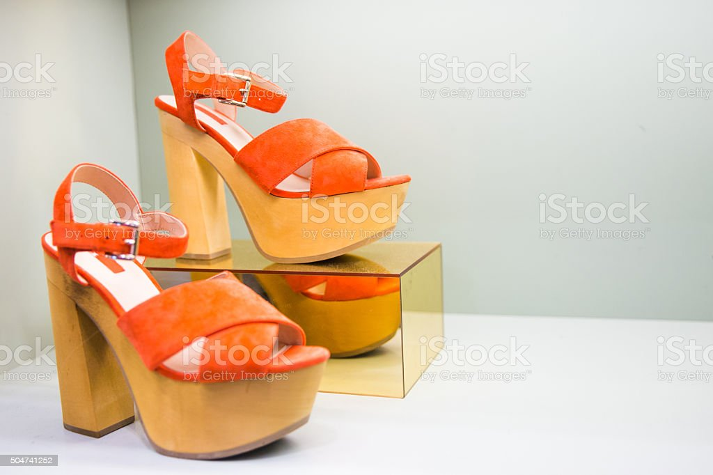 Woman love shoes stock photo