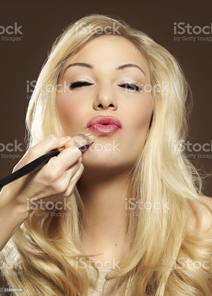 Woman Made Up royalty-free stock photo