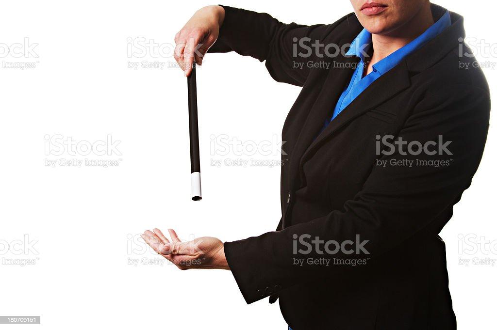 Woman Magician royalty-free stock photo