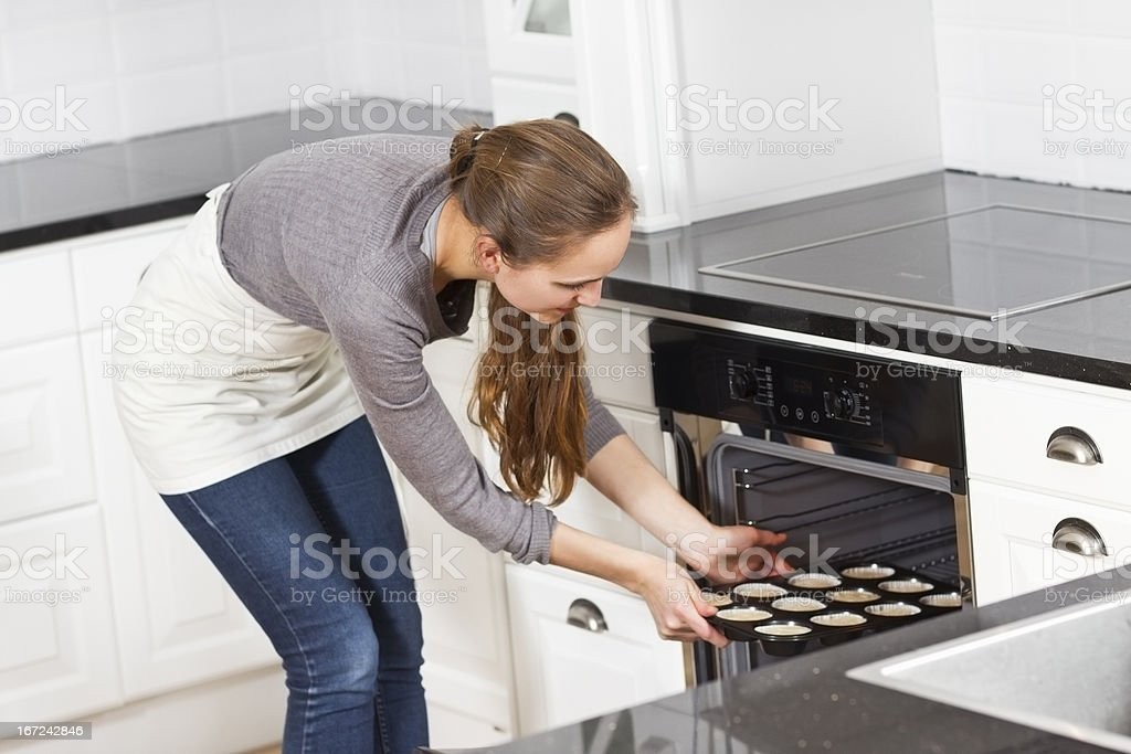 Woman Make Muffins royalty-free stock photo