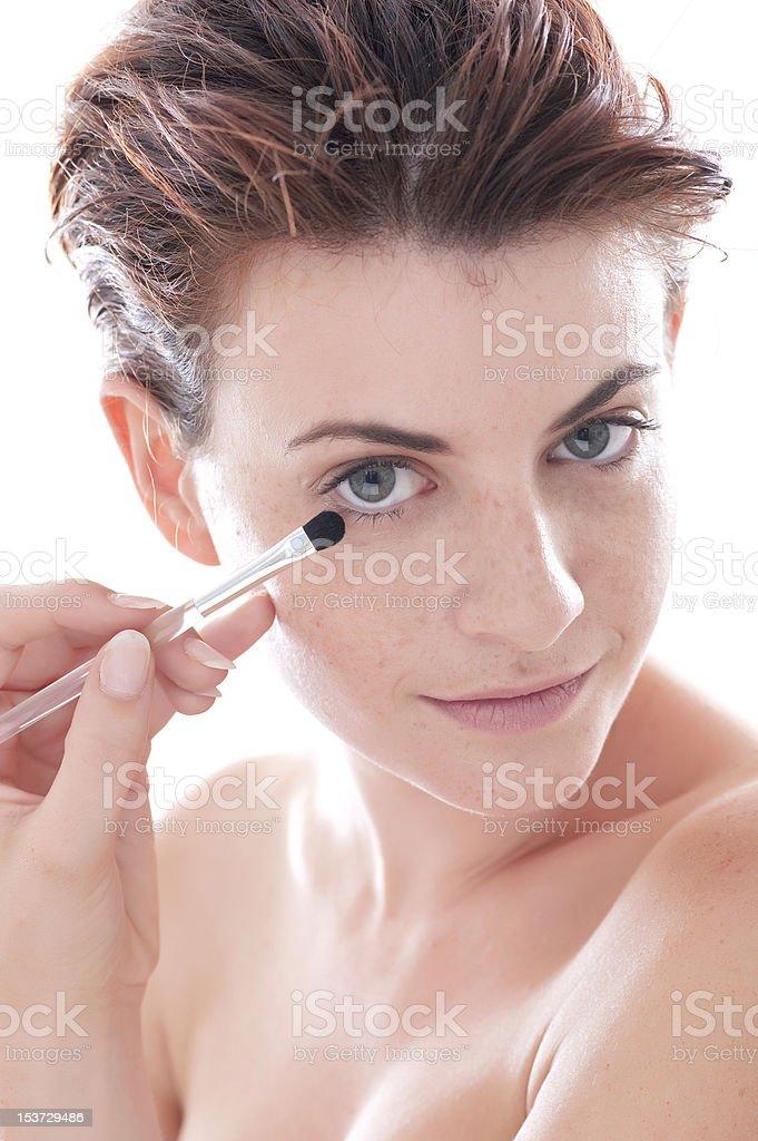 woman make-up stock photo