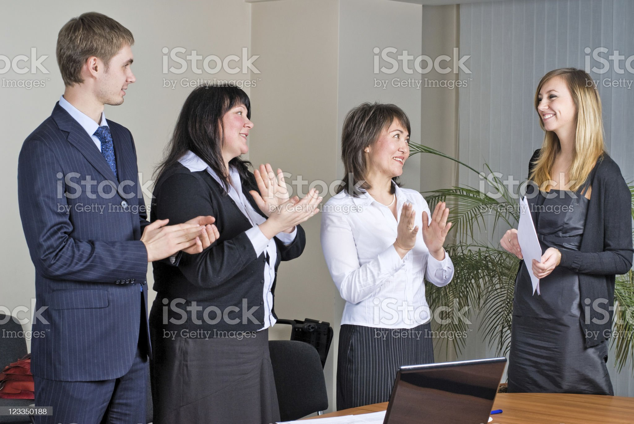 Woman making a business presentation royalty-free stock photo