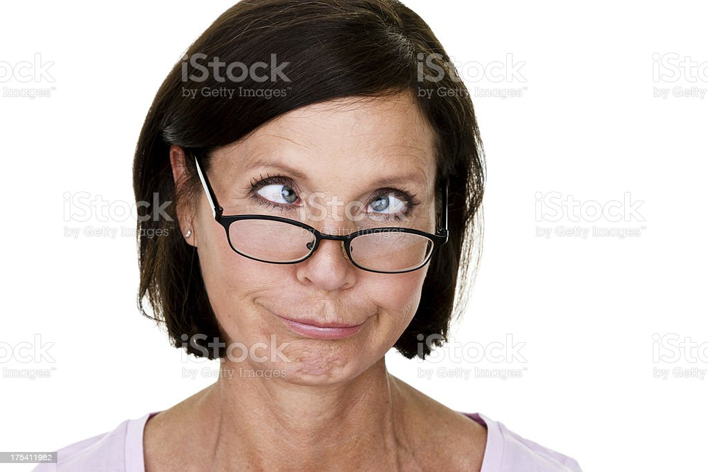 Woman making a silly face royalty-free stock photo