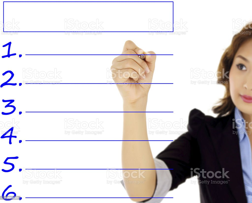Image result for woman making to do list