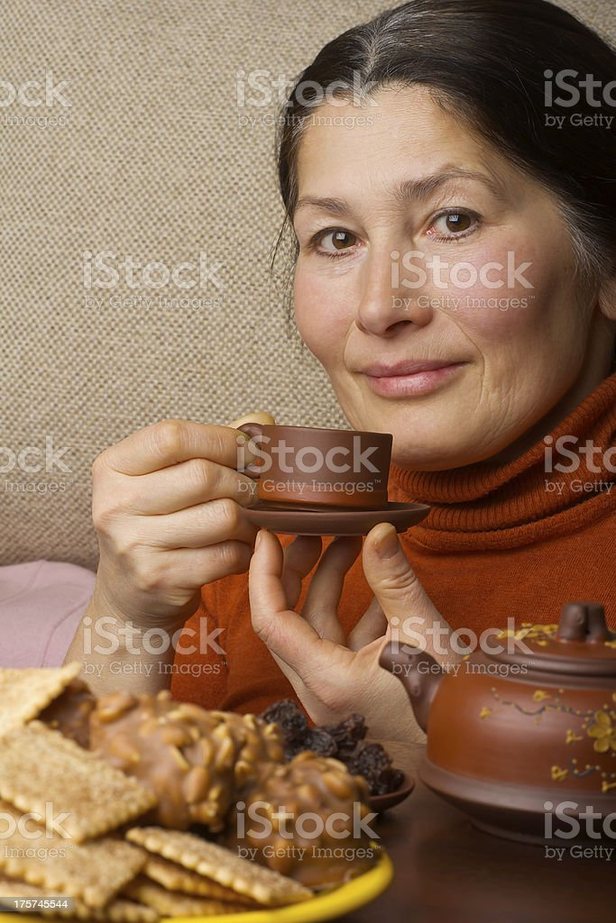 Woman making chinese tea royalty-free stock photo