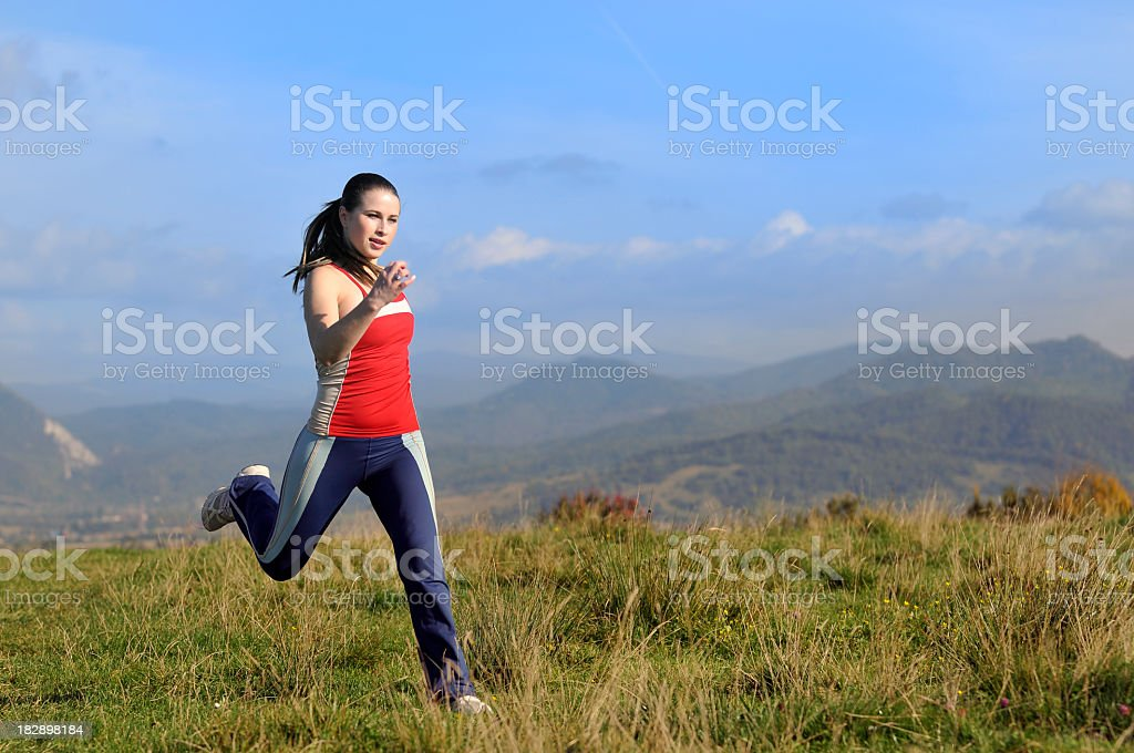 woman making sport royalty-free stock photo